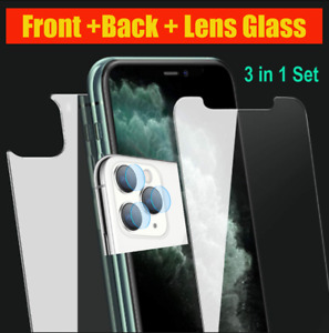 3 Pack Front+Back+Lens Tempered Glass For iPhone 11 PRO PRO MAX -U