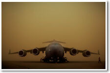 C-17 Globemaster III Aircraft - US Airforce Military POSTER