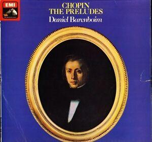 ASD 3254 B/W BAND DANIEL BARENBOIM chopin the preludes uk hmv LP PS EX/VG