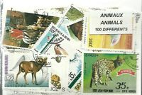 """Lot timbres thematique """" animaux"""""""