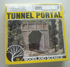 TUNNEL TUNNELING SINGLE TUNNEL PORTAL TIMBER MODEL HO SCALE W