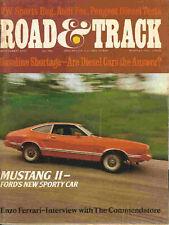 Road & Track 1973 Sep mustang II audi peugeot vw bug
