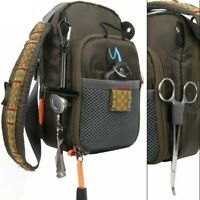 Lake Pond Anglers Angling Fly Fishing Bag Chest Pack Backpack With Tackle Tools