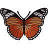 Orange Butterfly Patch Iron Sew On Jeans Dress T Shirt Skirt Embroidered Badge