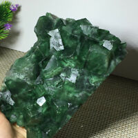 Natural green fluorite quartz crystal mineral specimens / China 1696g a2