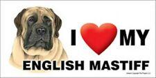 "I (Heart) Love my English Mastiff Car Fridge Dog Magnet 4""x8"" Usa Waterproof"