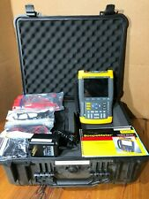 -NEW battery- FLUKE 196B SCOPEMETER 100 MHZ WITH Pelican Case test leads charger