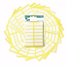 490 White Self Adhesive 12mm x 38mm Labels - 232150 - Made In The UK by Ivy