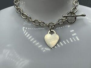 "Vintage Heavy Hallmarked Sterling Silver T-bar Chain Link Bracelet 25.7g - 8.5"""