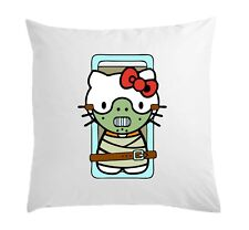 Hello Hannibal Lecter Kitty Funny Art White Pillow Case Cushion Cover 40 cm