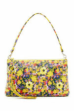 Hobo International Darcy Convertible Leather Cross body Clutch Daisy Floral New