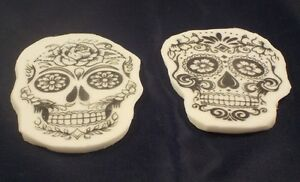 Sugar Skull Day Of the Dead Handmade Gothic Halloween  Edible Cake Toppers