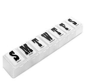 Weekly Daily Pill Box Organiser Tablet Medicine Storage Dispenser 7 Day UK