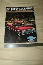 (MN1/D) Brochure Catalogue 1981 CHEVROLET '81 CHEVY EL CAMINO