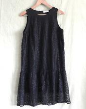 Anmol Dress Sleeveless Lace Black Tunic Size 14