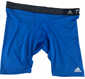 Adidas XXXL TechFit Climalite 50+ UV Base 9 Short Blue Compression Shorts  3XL