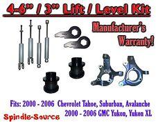 "2000- 2006 Chevrolet GMC 1500 4"" - 6"" / 3"" Lift Kit Spindles key Spacer + SHOCKS"