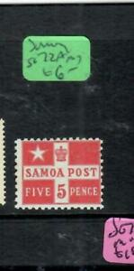 SAMOA  (P0904B)  5D FLAG  SG 72A  MOG