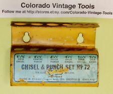 Vintage Thos.R. Ellin (Footprint Works) No. 72 Chisel & Punch Set Metal Holder