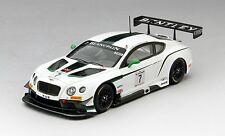 Bentley Gt3 #7 M-sport Winner Blancpain Gt Silverstone 2014 1:43 Model