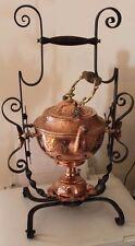 ancien samovar en fer forgé et cuivre