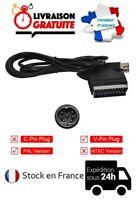 CABLE CORDON PERITEL RGB AV/TV CONSOLE SEGA MEGADRIVE 1 PAL MEGA DRIVE V PIN