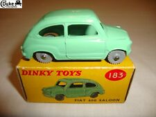 DINKY 183 FIAT 600 SALOON TREADED WHEELS - EXCELLENT in original BOX