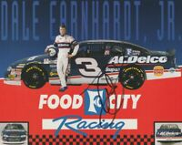 1998 Dale Earnhardt, Jr. signed Food City Chevy Monte Carlo NASCAR NBS postcard