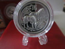 2014 Australian PM Lunar 2 Proof Hi-Relief Year of the HORSE 1oz 999 Silver Coin