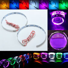 "Pair 3"" 15 Led Car Auto Devil Demon Eye Strip Light Headlight Projector Len Ring"