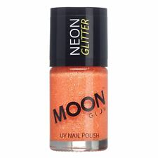 Moon Glow Neon UV Glitter Nail Varnish Polish - Choose your colour - 14ml
