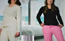 2 tlg. Damen Schlafanzug Pyjama lang Nachtwäsche Gr.S M L XL XXL NEU TOP