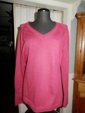 Women's Sweater Eddie Bauer Size XL Dark Red