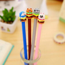 6Pcs Funny Cute Cartoon Hamburger Cake Pen Office School Supply Stationery Gifts