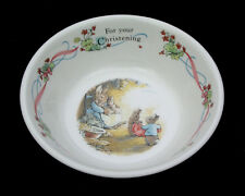 """WEDGWOOD - PETER RABBIT - FOR YOUR CHRISTENING 5 3/4"""" BOWL - MADE IN ENGLAND"""