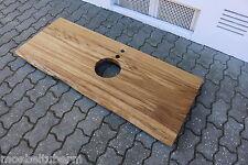 Waschtisch Tischplatte Platte Eiche Wild Massiv Holz mit Baumkante NEU Leimholz
