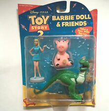 2000 Toy Story 2 Barbie Doll and Friends Disney Figure w Rex and Hamm New