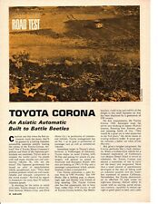 1966 TOYOTA CORONA ~ ORIGINAL 4-PAGE ROAD TEST / ARTICLE / AD