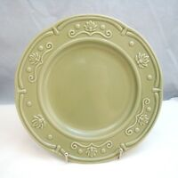 """Jaclyn Smith SCALLOPED FLORAL GREEN Salad Plate(s) 8 5/8"""" EXCELLENT"""