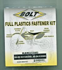 Plastic Bolt Kit Kawasaki KX 125 1988-1989 KX 250 1988-1989 KX 500 1988-2004