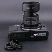 Fujian 35MM f/1.7 C Mount CCTV Lens for Canon EOSM EF-M M2 M3 with adapter+hood