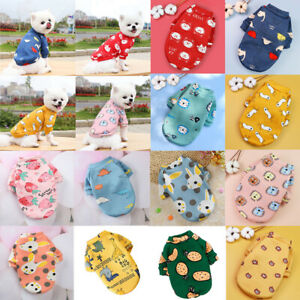 Pet Dog Fleece Hoodie Coat Winter Warm Clothes Chihuahua Jacket Casual Clothing