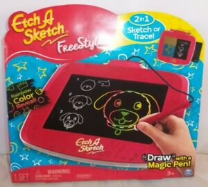 Etch A Sketch Freestyle w/ Magic Pen Reveal Rainbow Lines