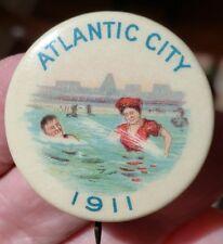 "1911 ATLANTIC CITY  Pinback 1 1/4"""