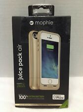 Mophie Juice Pack Air Cell Phone Battery Case For iPhone 5 5S Gold