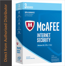 1-year subscription of McAfee Security 3 devices Delivery-eBay Messag