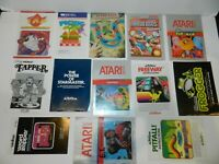Atari 2600 Game Manual Booklet Instructions You Pick & Choose Video Games Lot