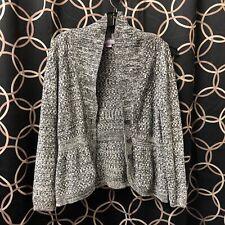 Laura Scott Gray Womens Knit Cardigan L