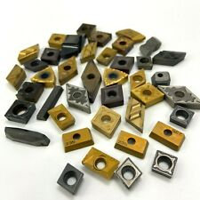 40 Pcs Mixed Lot Of Used Carbide Inserts Sandvik And Kennametal