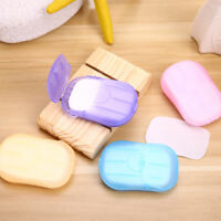 20Pcs/1 Box Hand Washing Soap Paper Travel Camping Scent Cleaning Sheets Flowery